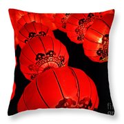Chinese Lanterns 3 Throw Pillow