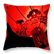 Chinese Lanterns 4 Throw Pillow