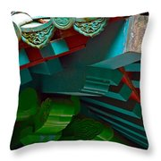 Chinese Pagoda Roof Detail Throw Pillow