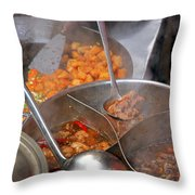 Chinese Street Food Throw Pillow