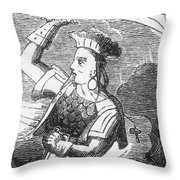 Ching Shih, Cantonese Pirate Throw Pillow by Photo Researchers