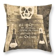 Chinon Wine  Throw Pillow