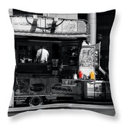 Chip Wagon Throw Pillow