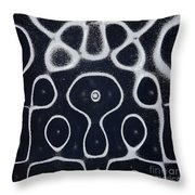 Chladni Oscillations On Metal Plate Throw Pillow