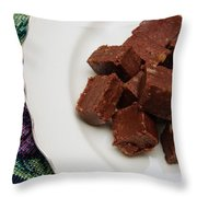 Chocolate Cheese With Nuts Throw Pillow