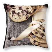 Chocolate Chip Cookies And Chocolate Chips Throw Pillow