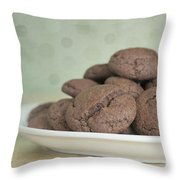 Chocolate Cookies Throw Pillow