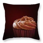 Chocolate Cupcake Isolated Throw Pillow