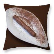 Chocolate Praline Throw Pillow