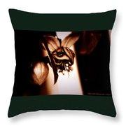 Chocolate Silk Fuchsia II Throw Pillow