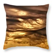 Chocolate Sky Throw Pillow