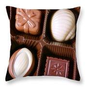 Chocolates Closeup Throw Pillow