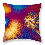 Cholesterol Crystal Throw Pillow
