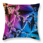 Cholesteryl Benzoate Crystal Throw Pillow