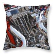 Chopper Engine Throw Pillow
