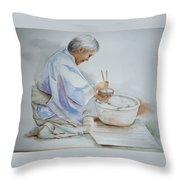 Chopsticks Iv - Rice Bowl Throw Pillow