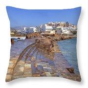 Chora Naxos Throw Pillow