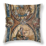 Christ And David Throw Pillow