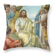 Christ And His Disciples Throw Pillow