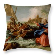 Christ At The Sea Of Galilee Throw Pillow