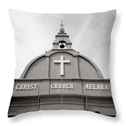 Christ Church In Melaka In Malaysia Throw Pillow