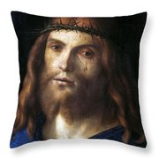 Christ Crowned With Thorns Throw Pillow
