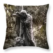 Christ With Cross Throw Pillow by Kelly Rader