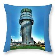 Christchurch Airport's Control Tower Throw Pillow