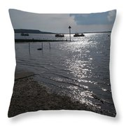 Christchurch Harbour Viewed From Mudeford Throw Pillow