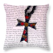 Christian  Cross Throw Pillow by Cynthia Amaral
