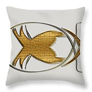 Christian Fish Throw Pillow