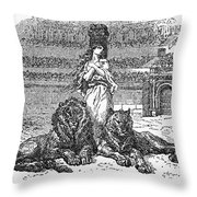 Christian Martyr Throw Pillow by Granger