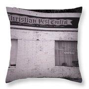 Christian Pest Control Throw Pillow