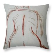Christina - Life Drawing Throw Pillow