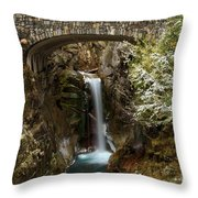 Christine Under The Bridge Throw Pillow