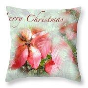 Christmas Card - Virginia Creeper In Autumn Colors Throw Pillow