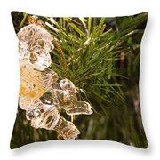 Christmas Crystal Angel 1 B Throw Pillow