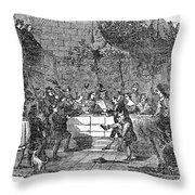 Christmas Feast, 1838 Throw Pillow