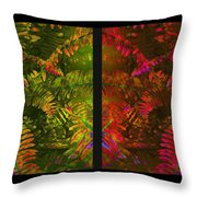 Christmas Fern Diptych Throw Pillow by Judi Bagwell