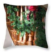 Christmas Garland Throw Pillow