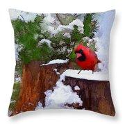 Christmas Guest Throw Pillow