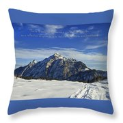 Christmas In Austria Europe Throw Pillow by Sabine Jacobs