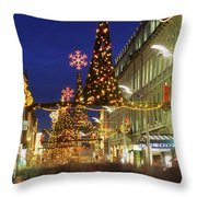 Christmas In Dublin, Henry Street At Throw Pillow