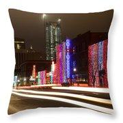 Christmas In Okc Throw Pillow