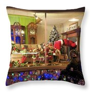 Christmas In Rochester Throw Pillow