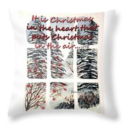 Christmas In The Heart Throw Pillow