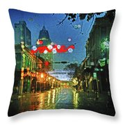 Lights At 3 Georges In Mobile Al Throw Pillow