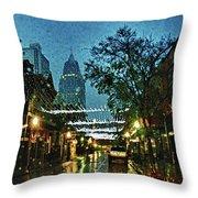 Christmas Lights Down Dauphin Street Throw Pillow