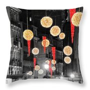 Christmas Lights In Alicante Throw Pillow
