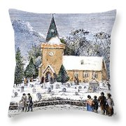 Christmas Morning, 1837 Throw Pillow